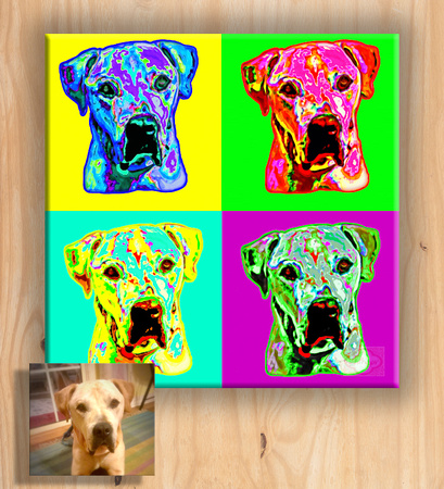 Pet Portrait - Warhol Inspired
